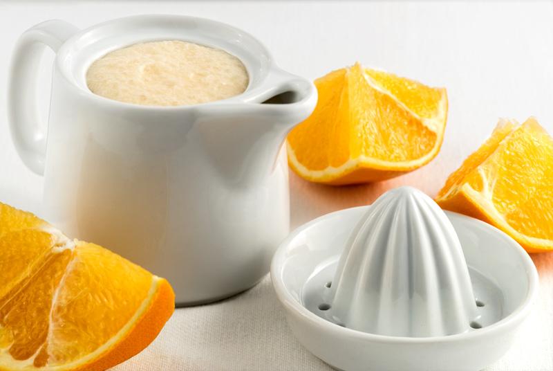 Jugo de naranja y coco