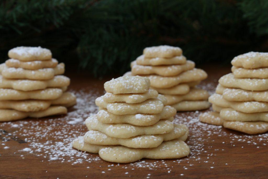 Galletas de árbol de navidad