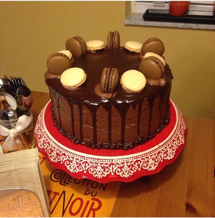 Torta de almendras con cubierta de chocolate